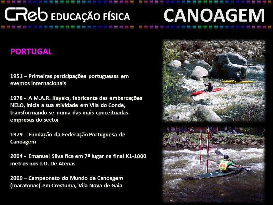 CANOAGEM PORTUGAL. 1951 – Primeiras participações portuguesas em eventos internacionais.