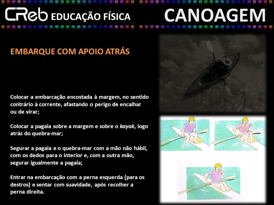 CANOAGEM EMBARQUE COM APOIO ATRÁS
