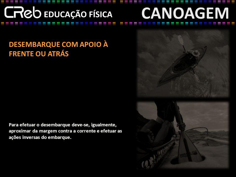CANOAGEM DESEMBARQUE COM APOIO À FRENTE OU ATRÁS