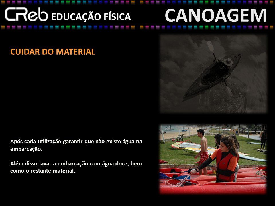 CANOAGEM CUIDAR DO MATERIAL
