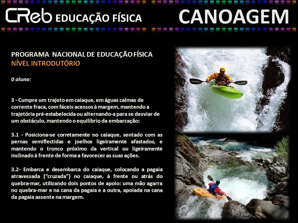 CANOAGEM PROGRAMA NACIONAL DE EDUCAÇÃO FÍSICA NÍVEL INTRODUTÓRIO