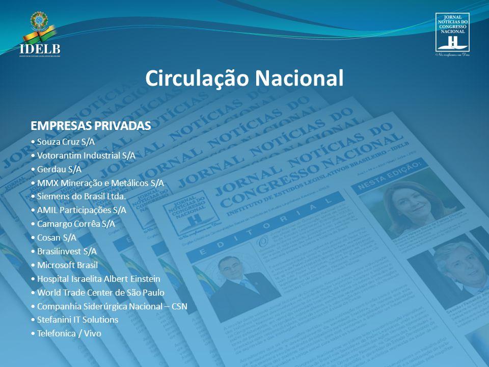 Circulação Nacional EMPRESAS PRIVADAS • Souza Cruz S/A