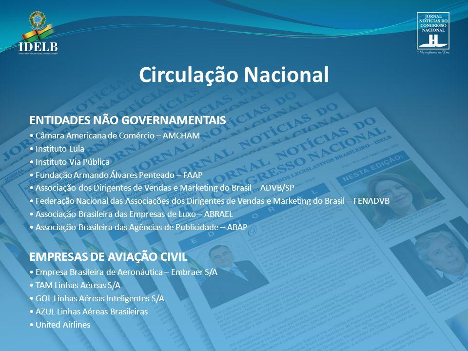 Circulação Nacional ENTIDADES NÃO GOVERNAMENTAIS
