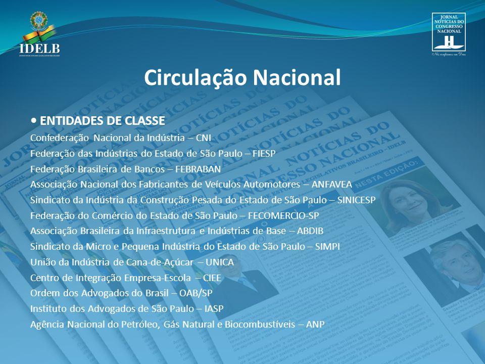 Circulação Nacional • ENTIDADES DE CLASSE