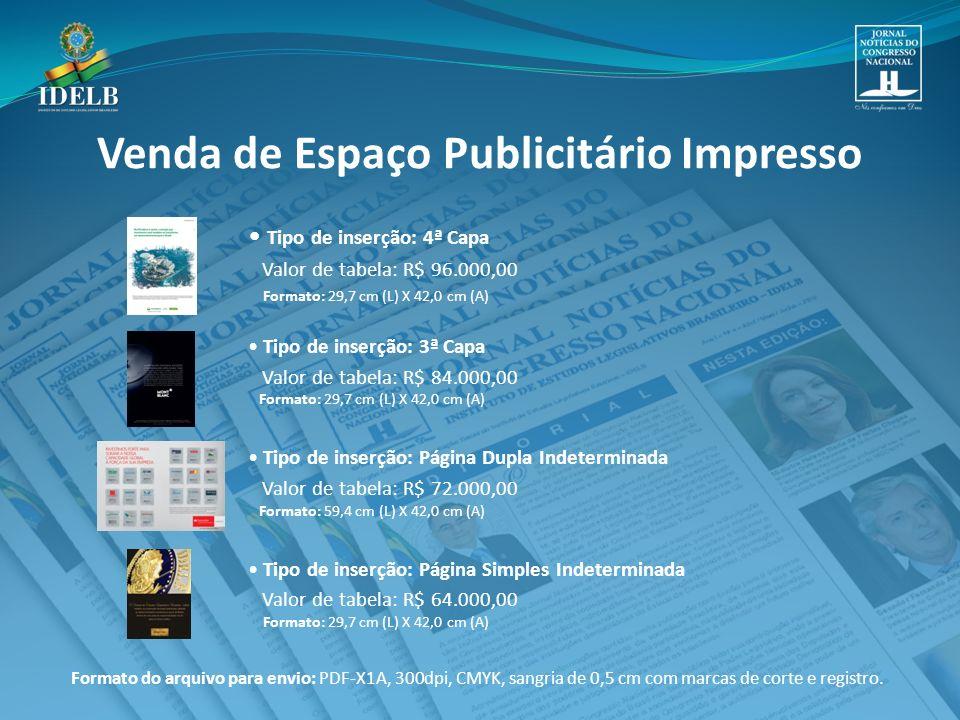 Venda de Espaço Publicitário Impresso