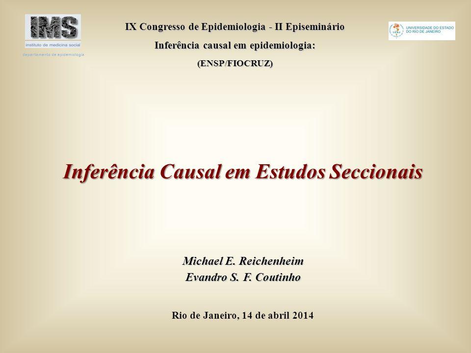 Inferência Causal em Estudos Seccionais