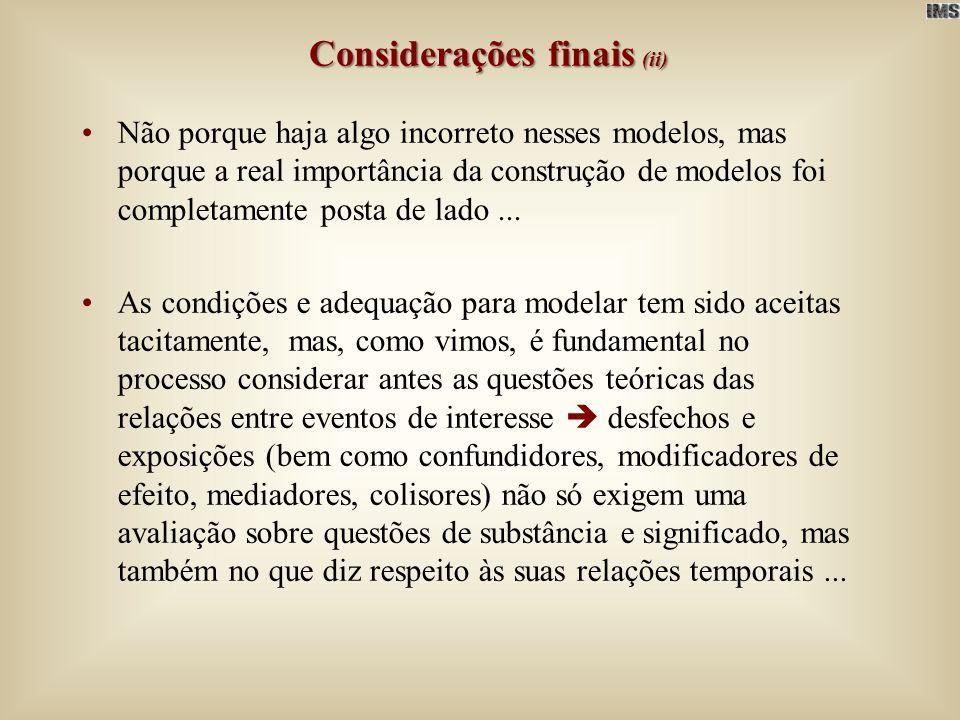 Considerações finais (ii)