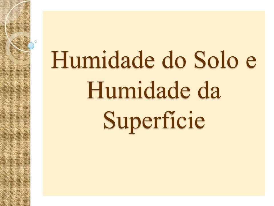 Humidade do Solo e Humidade da Superfície