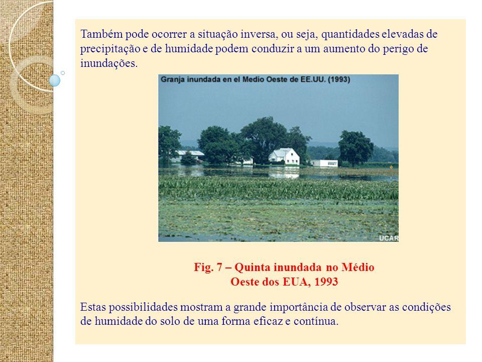 Fig. 7 – Quinta inundada no Médio Oeste dos EUA, 1993