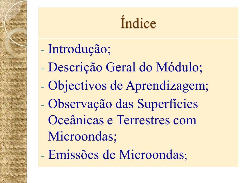 Índice Introdução; Descrição Geral do Módulo;