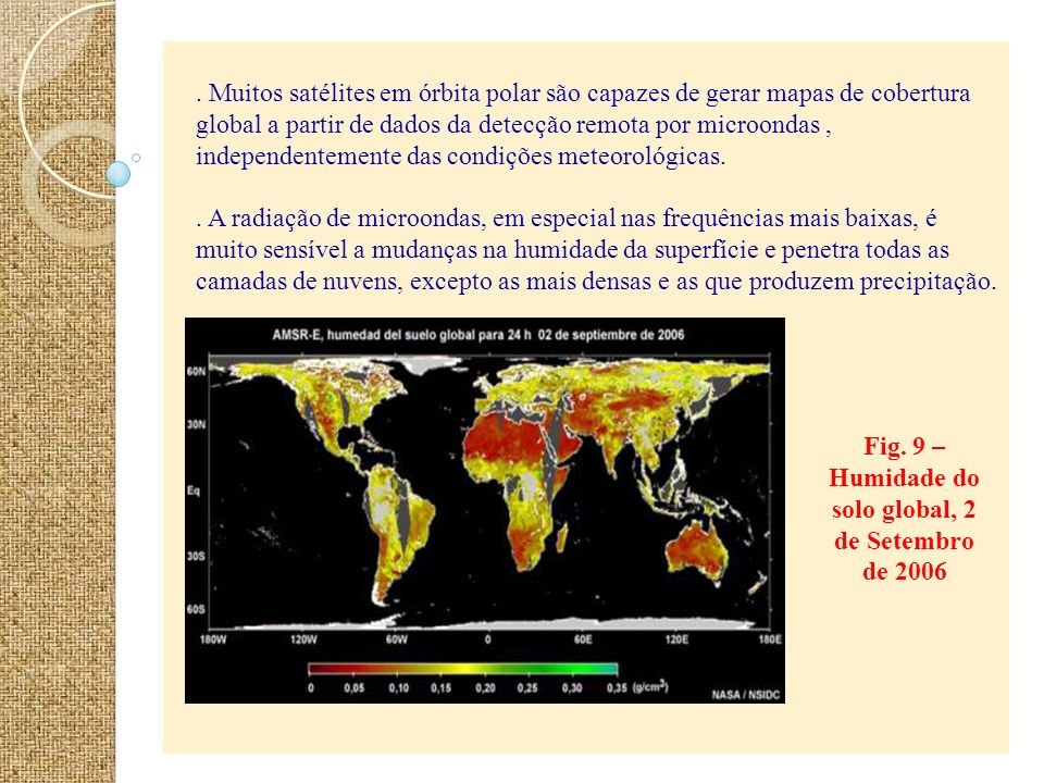 Fig. 9 – Humidade do solo global, 2 de Setembro de 2006