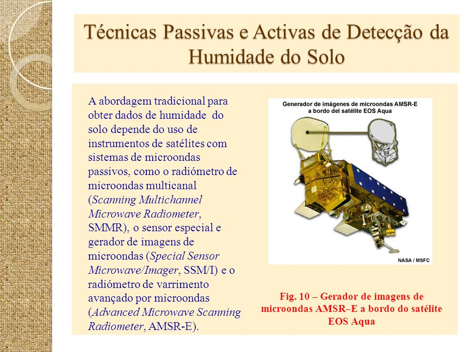 Técnicas Passivas e Activas de Detecção da Humidade do Solo
