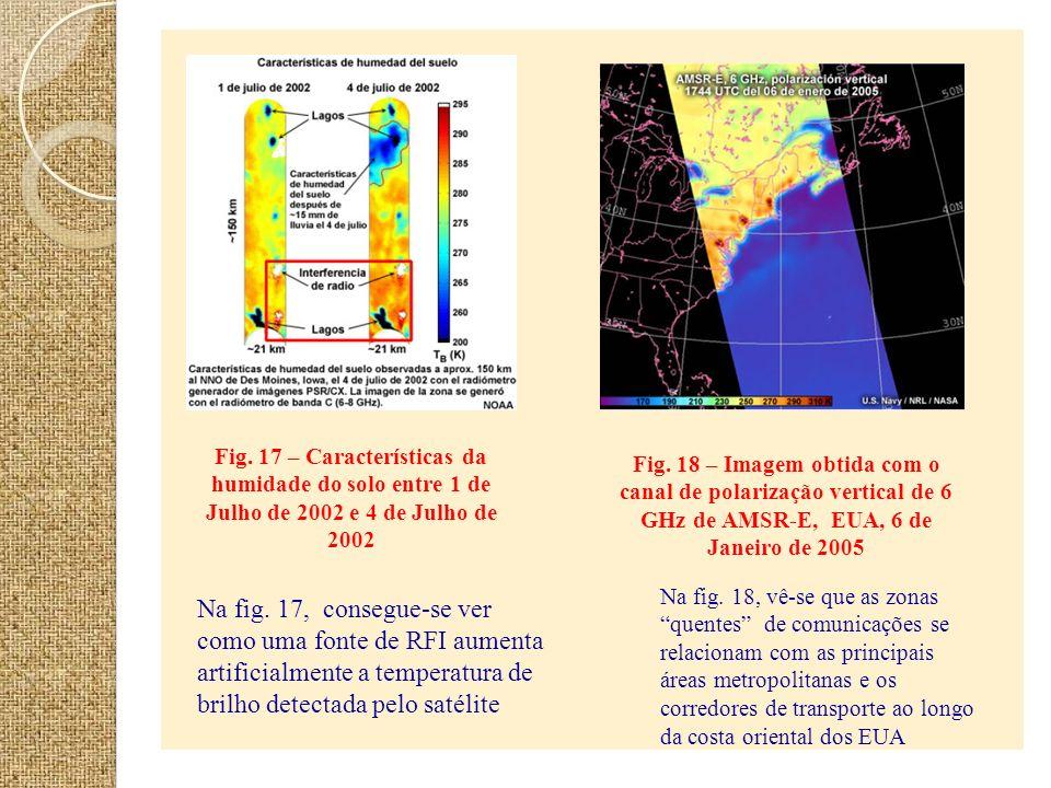 Fig. 17 – Características da humidade do solo entre 1 de Julho de 2002 e 4 de Julho de 2002