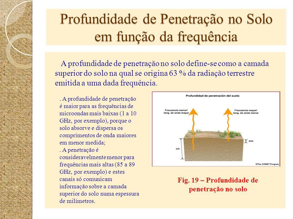 Profundidade de Penetração no Solo em função da frequência