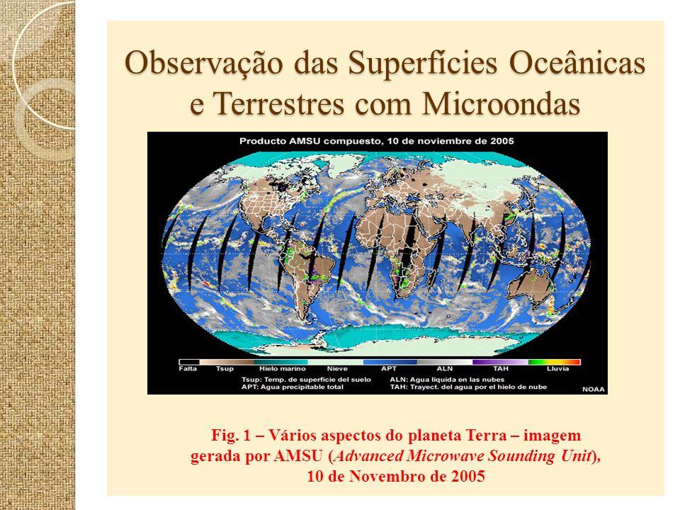 Observação das Superfícies Oceânicas e Terrestres com Microondas