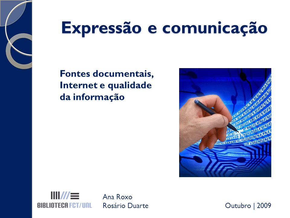 Expressão e comunicação