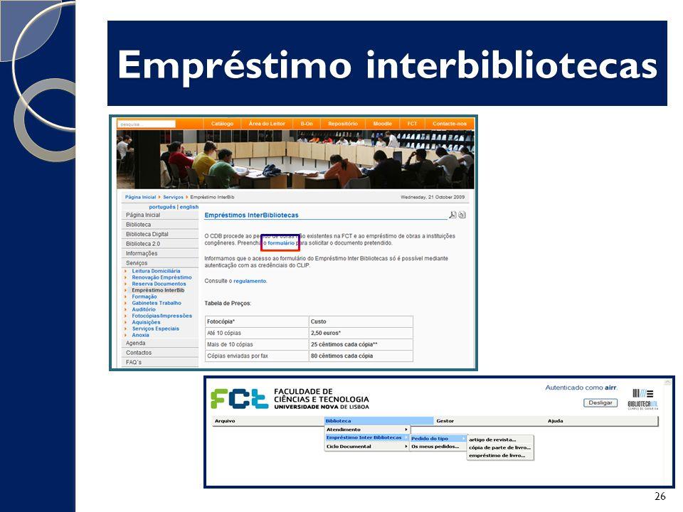 Empréstimo interbibliotecas