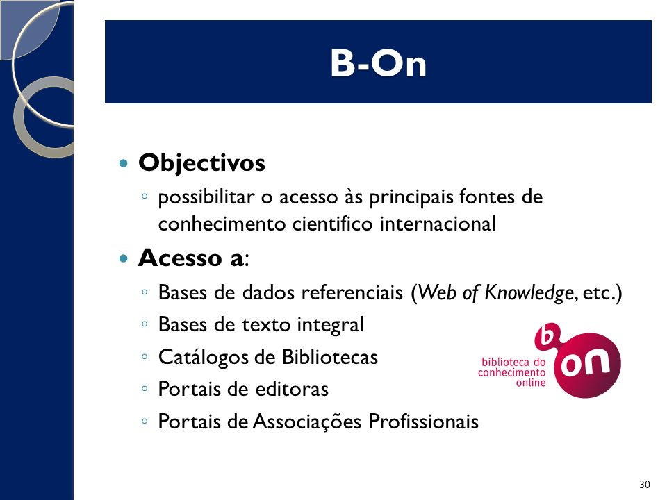 B-On Objectivos Acesso a: