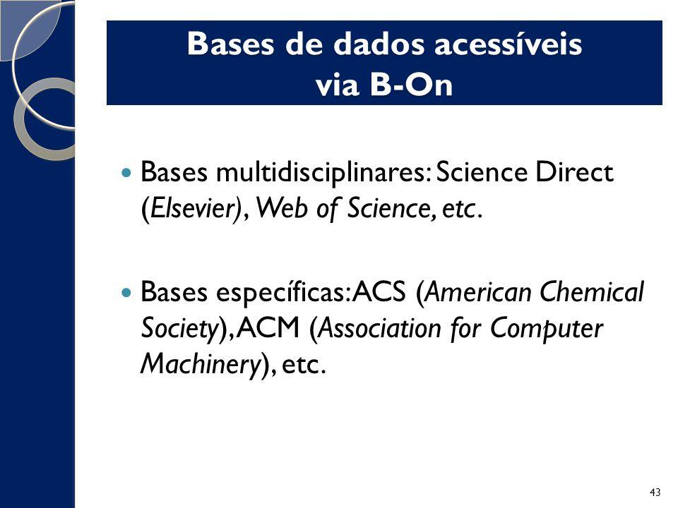 Bases de dados acessíveis via B-On