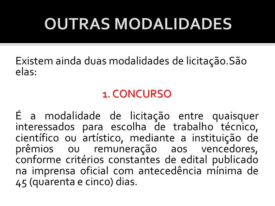 OUTRAS MODALIDADES