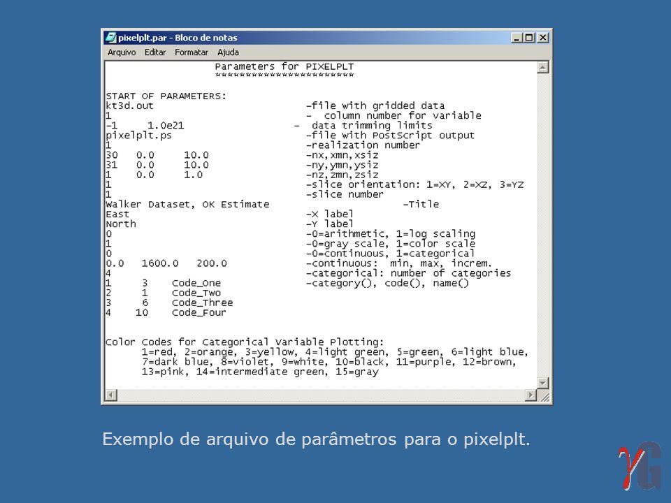 Exemplo de arquivo de parâmetros para o pixelplt.