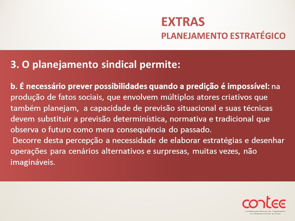 EXTRAS PLANEJAMENTO ESTRATÉGICO