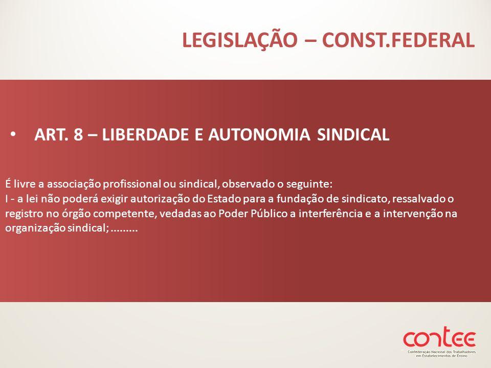 LEGISLAÇÃO – CONST.FEDERAL