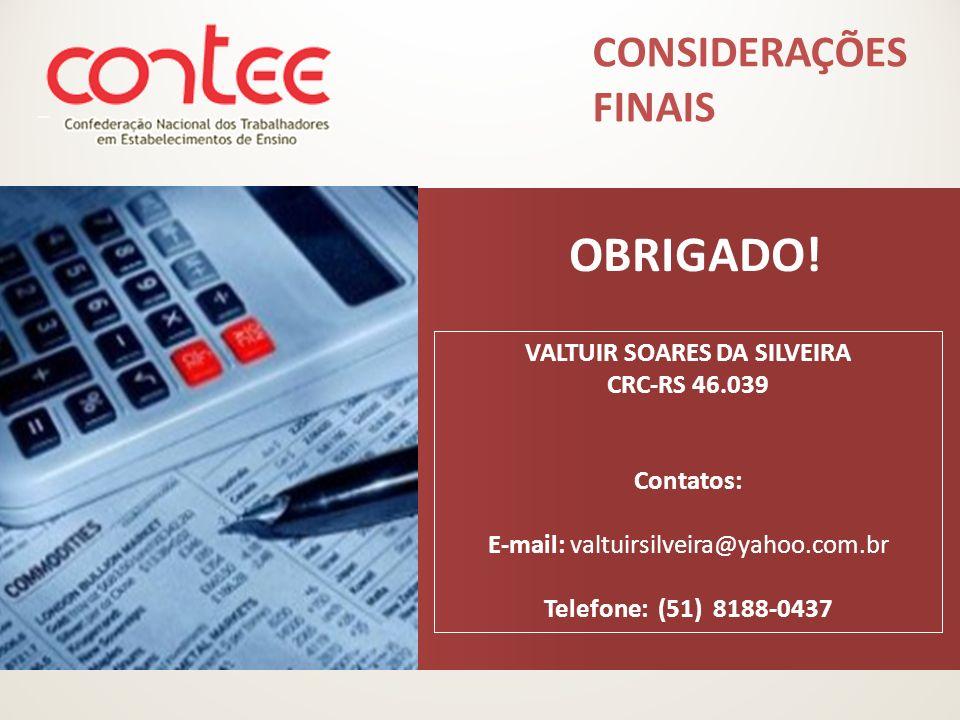 VALTUIR SOARES DA SILVEIRA CRC-RS 46.039
