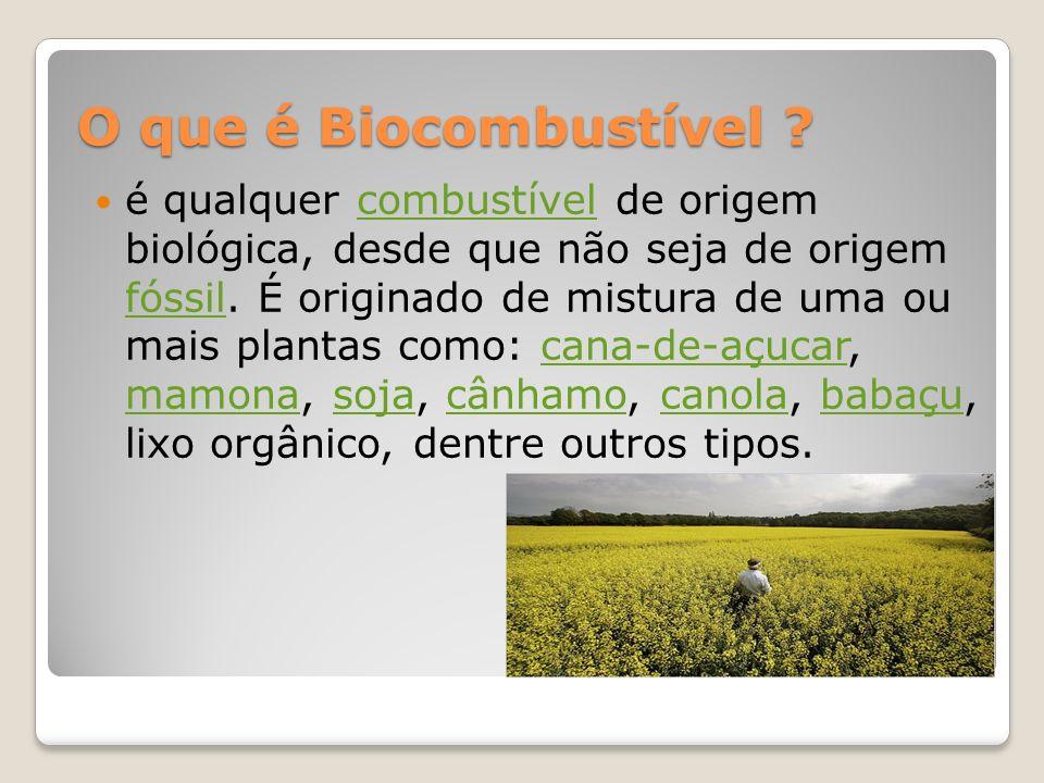 O que é Biocombustível