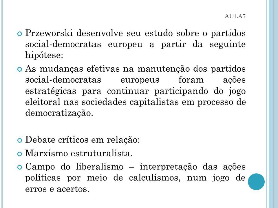 Debate críticos em relação: Marxismo estruturalista.
