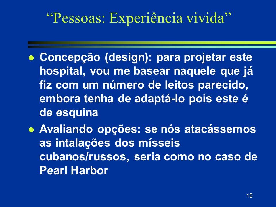 Pessoas: Experiência vivida
