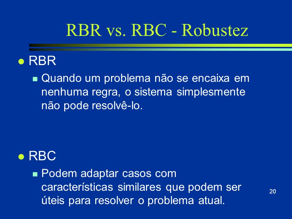 RBR vs. RBC - Robustez RBR RBC