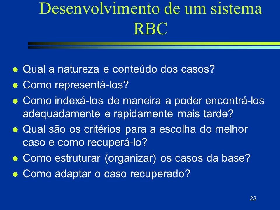 Desenvolvimento de um sistema RBC