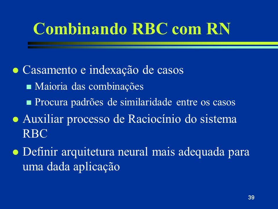 Combinando RBC com RN Casamento e indexação de casos