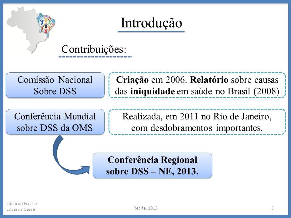 Conferência Regional sobre DSS – NE, 2013.