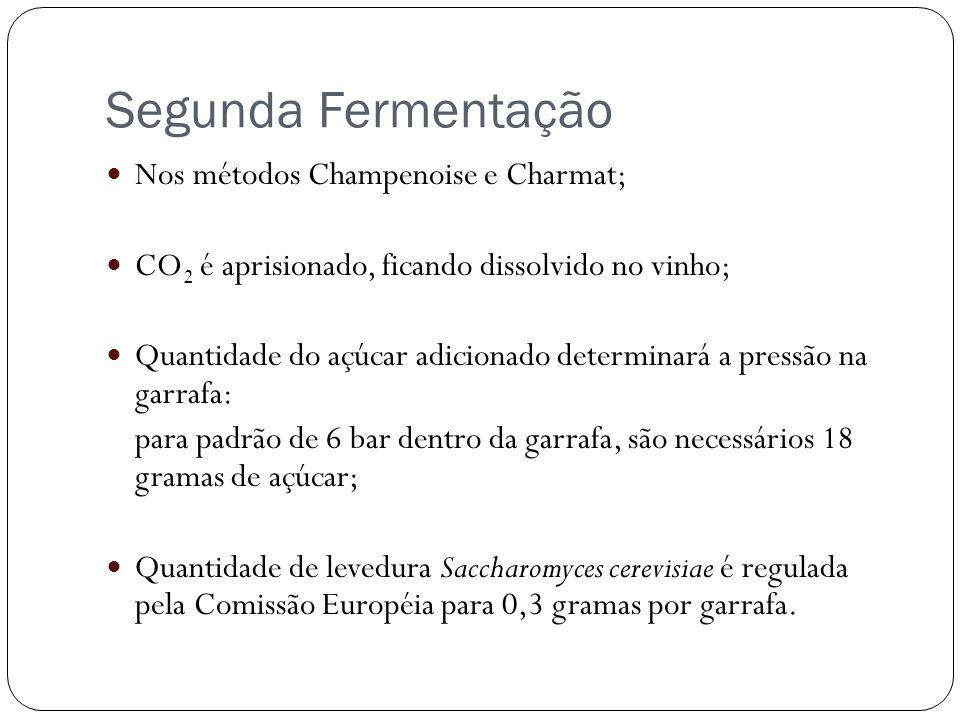 Segunda Fermentação Nos métodos Champenoise e Charmat;