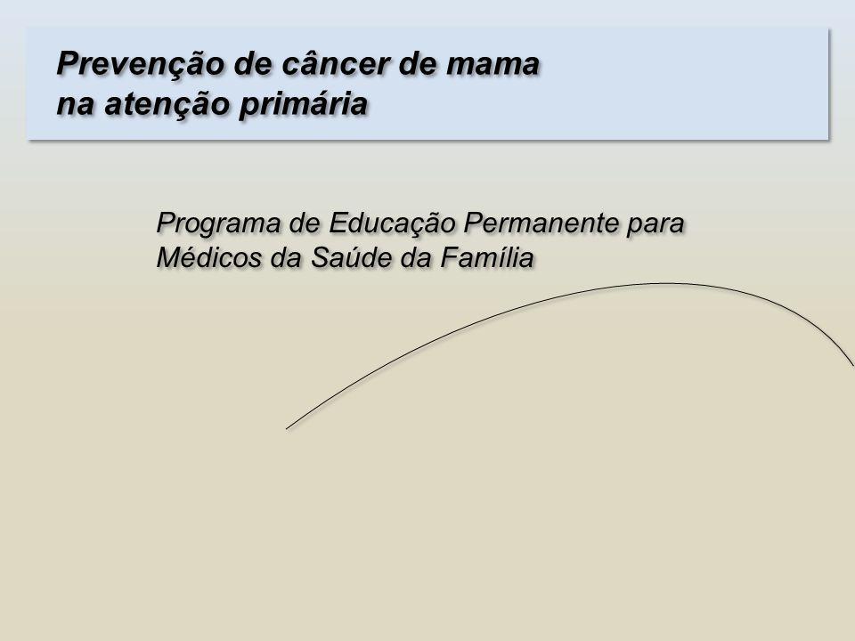 Prevenção de câncer de mama na atenção primária