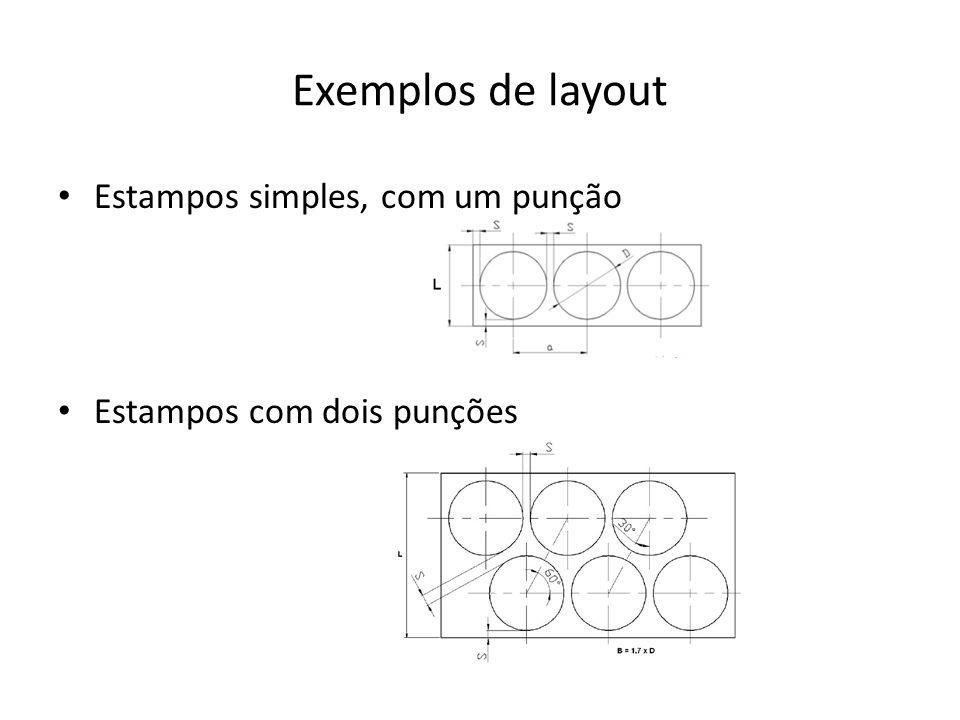 Exemplos de layout Estampos simples, com um punção
