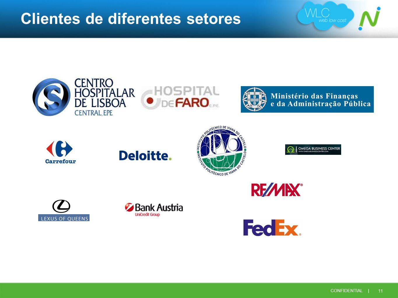 Clientes de diferentes setores