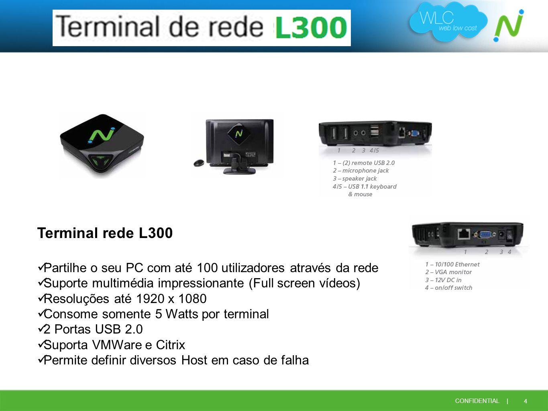 Terminal rede L300 Partilhe o seu PC com até 100 utilizadores através da rede. Suporte multimédia impressionante (Full screen vídeos)