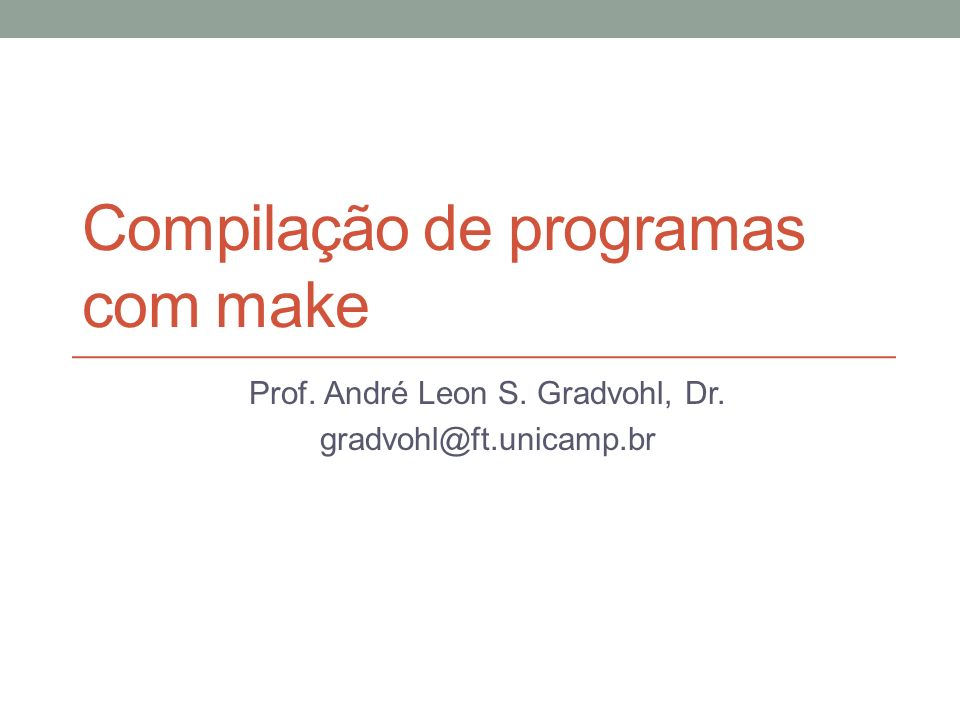 Compilação de programas com make