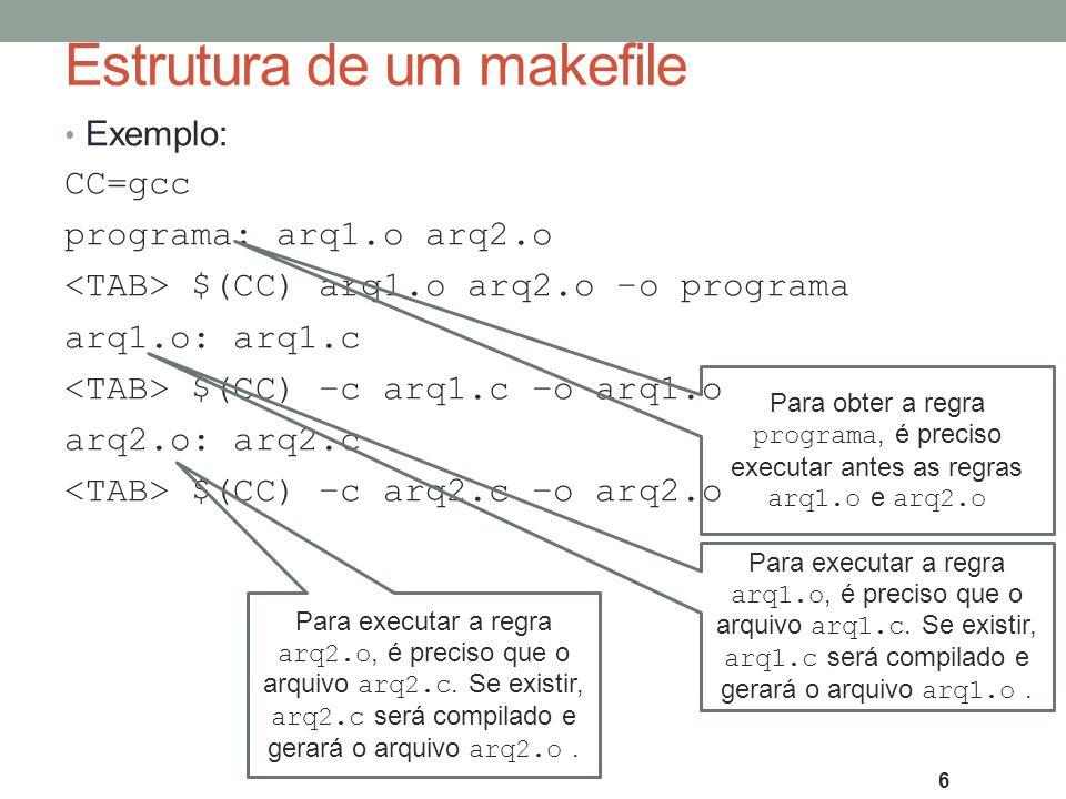 Estrutura de um makefile