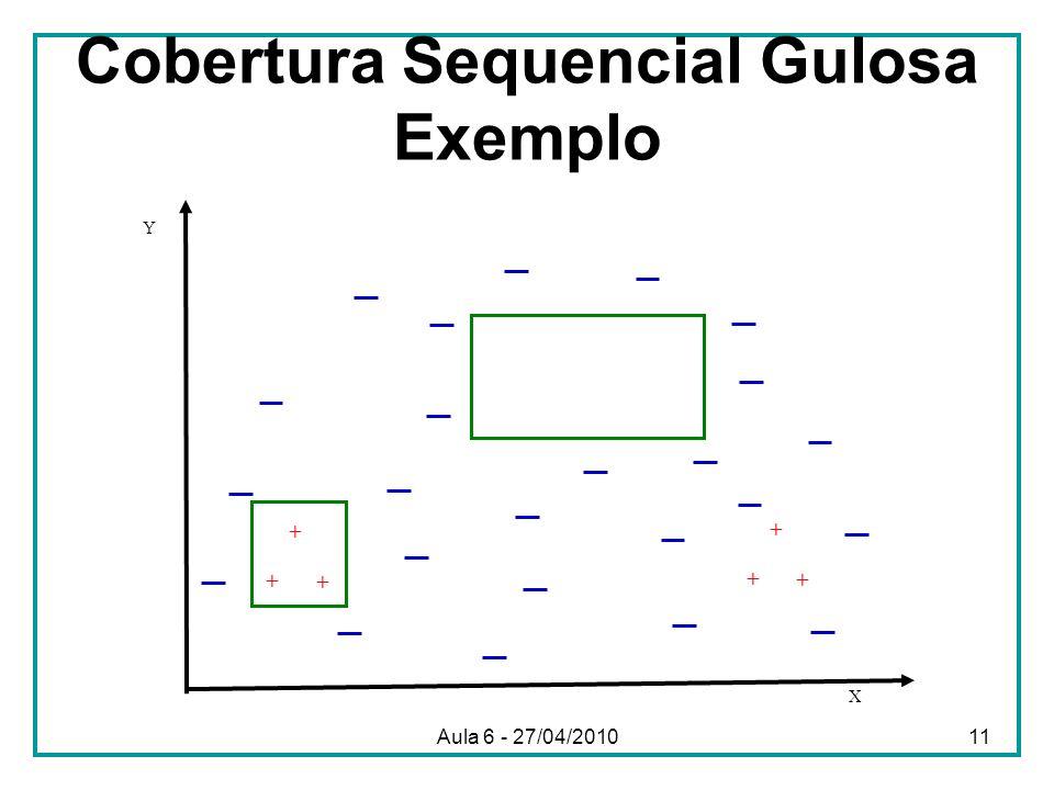 Cobertura Sequencial Gulosa Exemplo
