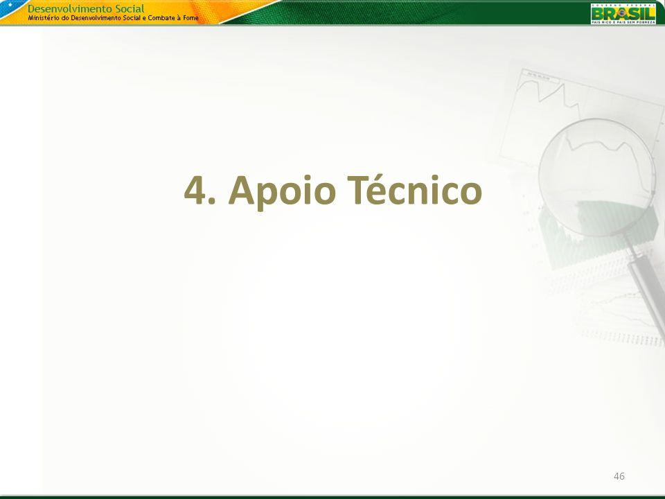 4. Apoio Técnico 46 46