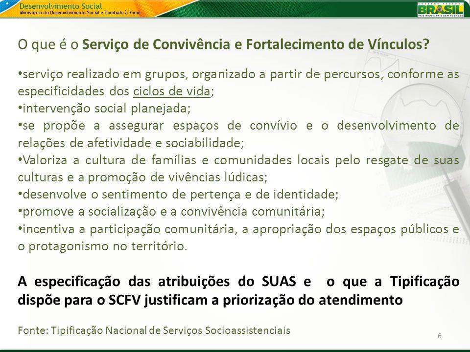 O que é o Serviço de Convivência e Fortalecimento de Vínculos