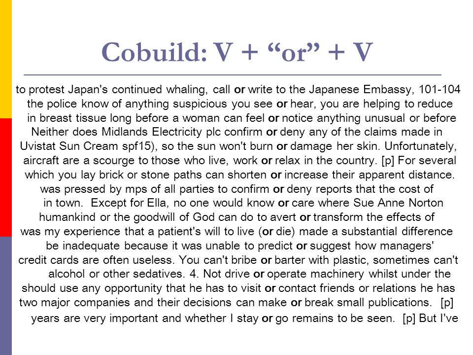 Cobuild: V + or + V to protest Japan s continued whaling, call or write to the Japanese Embassy, 101-104.
