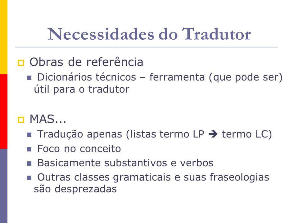 Necessidades do Tradutor
