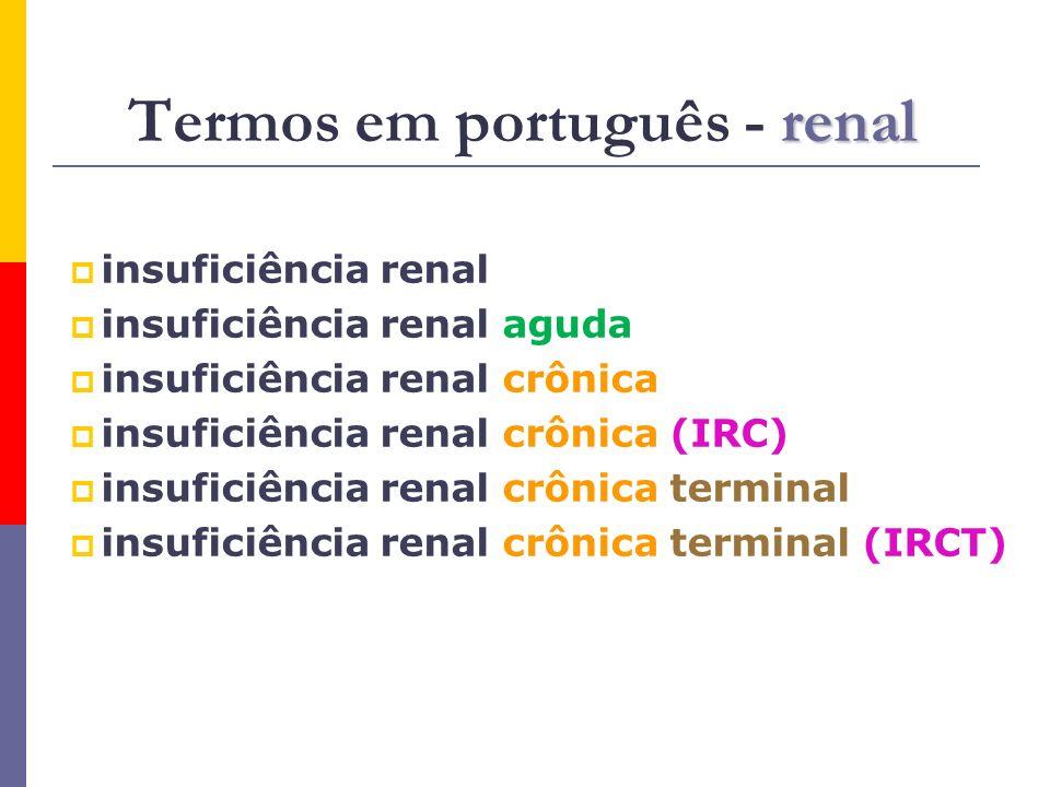 Termos em português - renal