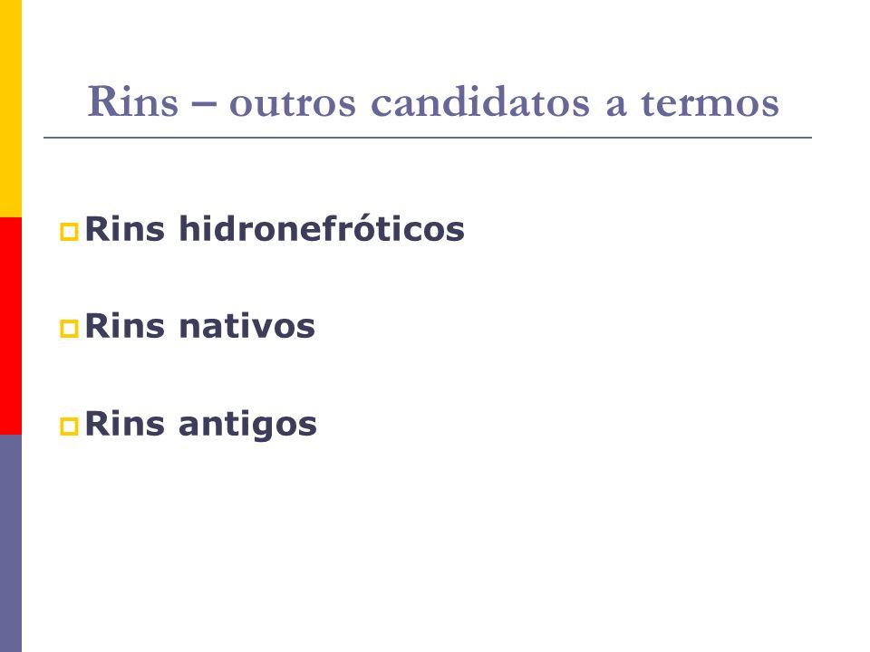 Rins – outros candidatos a termos