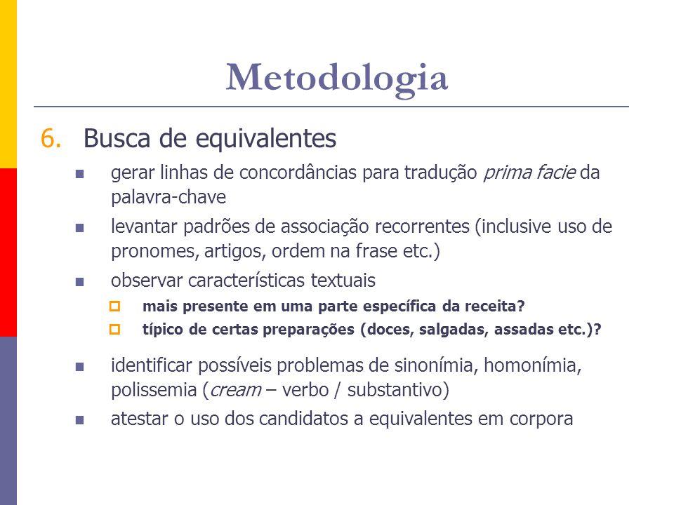 Metodologia Busca de equivalentes